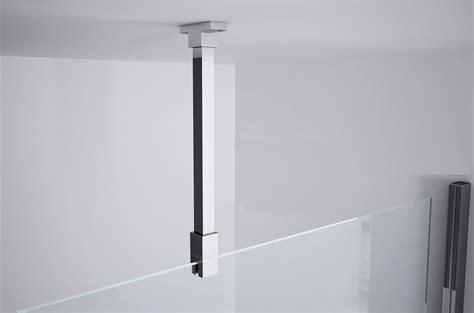 fixation pour paroi de kit de fixation plafond pour paroi de verre 6 et 8 mm novellini