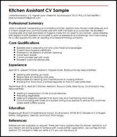 Resume Kitchen Manager kitchen assistant cv sample myperfectcv