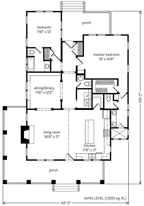 floor plans southern living house plan whisper creek sl1653 sl for the home