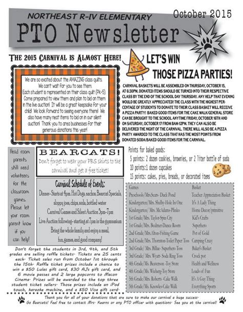 pto newsletter templates free 15 best pta newsletter images on school ideas