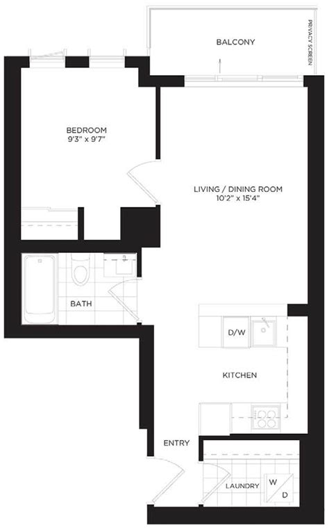 10 Park Blvd Floor Plan by 713 55 Regent Park Blvd Furnished Rental Regent Park