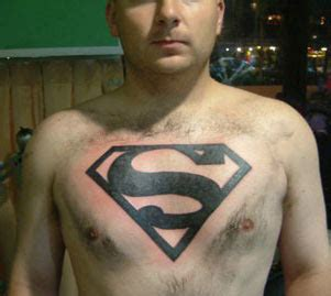 superman tattoo on chest 3d tattoos and designs page 38