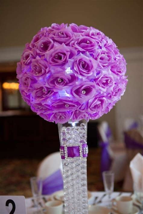 lighted centerpieces for wedding reception elegant purple wedding centerpieces and decorations purple