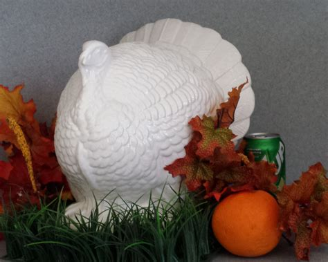 Handmade Turkey - large table top handmade ceramic turkey by suesuesuecrafts