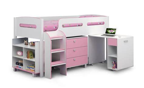 julian bowen kimbo pink mid sleeper cabin bed