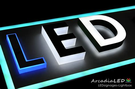 led light box sign lighting signage lighting ideas