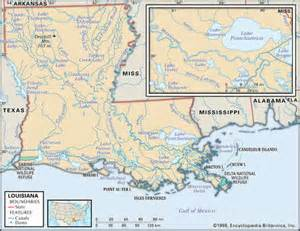 Louisiana Rivers Map by Stock Illustration Physical Map Of The State Of