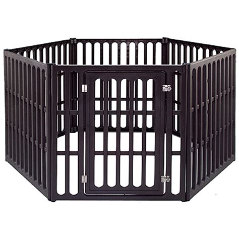 puppy pen walmart iris 39 88 large 6 panel indoor outdoor pet pen walmart