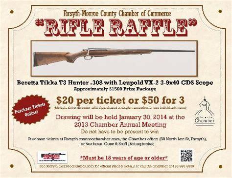Rifle Raffle Oct 8 2013 To Jan 29 2014 171 Forsyth Monroe County Chamber Of Commerce Gun Raffle Ticket Template