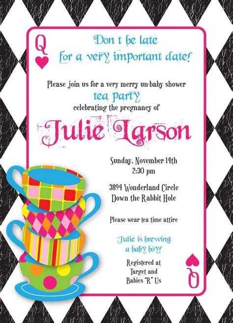 mad hatter tea invitation template free mad hatter tea invitations templates free