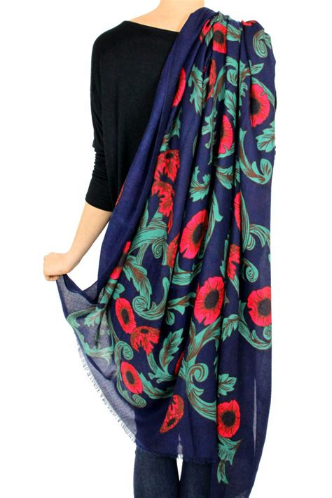 pretty persuasions navy floral scarf from los angeles by b