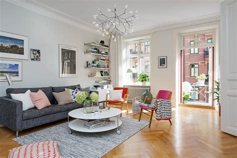 apartment livingroom colorful scandinavian apartment captures inspiring details