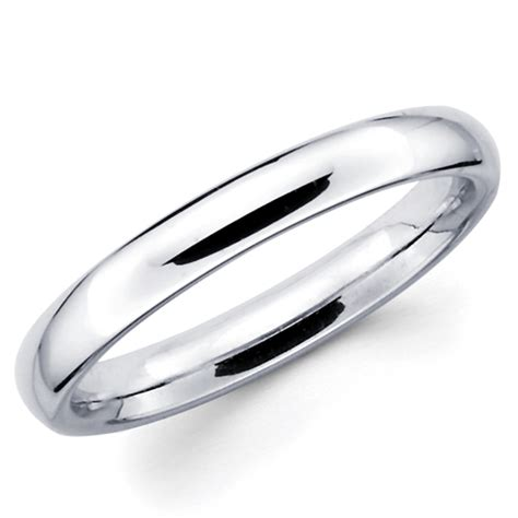 10k Gold Wedding Band by 10k Solid White Gold 3mm Plain S And S Wedding