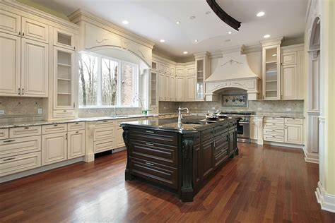 Dark Wood Kitchen Island by 35 Beautiful White Kitchen Designs With Pictures