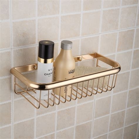 gold bathroom shelf copper titanium shelf gold plated rectangular bathroom