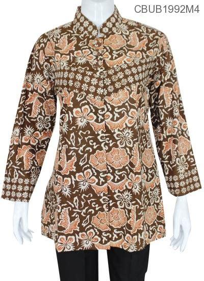 Baju Batik Kemeja Panjang Batik Minu Daun baju batik blus panjang katun motif daun tumpal blus panjang murah batikunik