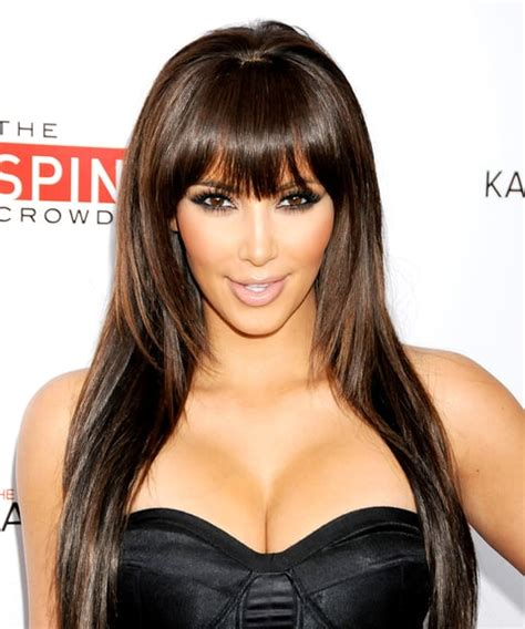 kim kardashiantop 10 best hairstyles ever 2 blunt bangs kim kardashian s best hairstyles ever us