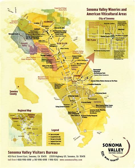 sonoma valley map sonoma valley winery map maplets