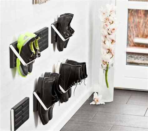 wall shoe rack diy wall mounted shoe storage single pair of shoes loca