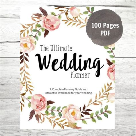 printable wedding planner pdf printable wedding planner diy wedding planner diy