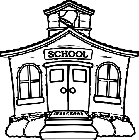 coloring page of a school house any school house coloring page wecoloringpage