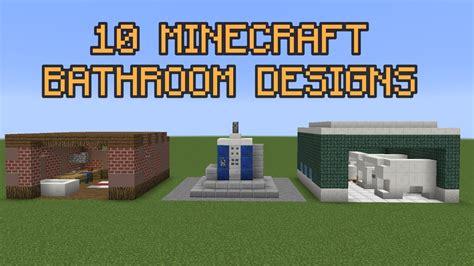 minecraft bathroom designs youtube