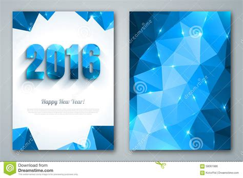 new year 2016 greeting cards singapore happy new year 2016 greeting cards in polygonal stock