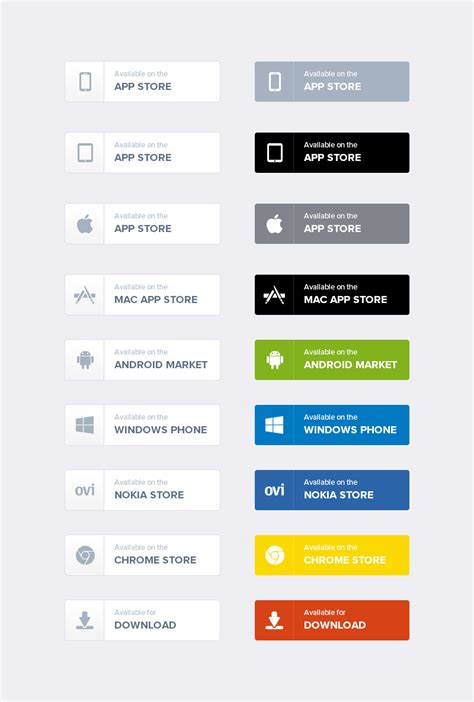 design app buttons free app download buttons freebies gallery