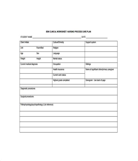 nursing care plan template word care plan template advance care planning gold standard