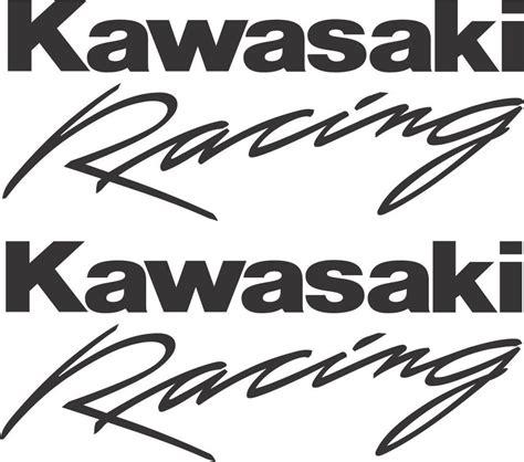 Racing Sticker Motorrad by Kawasaki Racing X 2 Decals Stickers 150mm 6 Quot Ebay