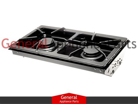 Gas 2 Burner Cooktop jenn air designer line gas cooktop black two burner cartridge jga8100adb ebay