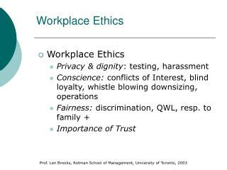ppt ethics in the workplace powerpoint presentation id 6599384