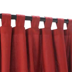 Red Outdoor Curtains Garnet Weathersmart Outdoor Curtain With Tabs Hatteras