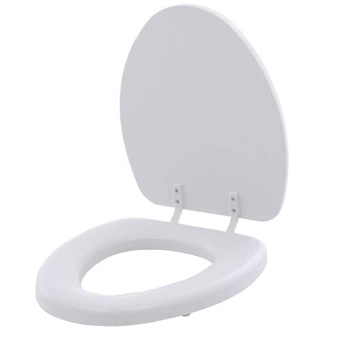 bemis soft elongated closed front toilet seat in white