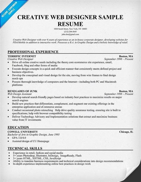 11 best resumes images on resume exles