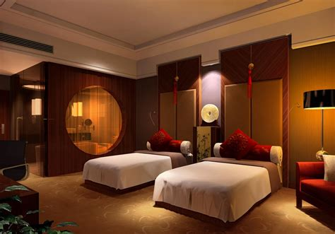 inside room thailand hotel room interior design rendering 3d