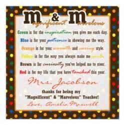 Teacher appreciation gift m poem gift tag custom invitation teacher