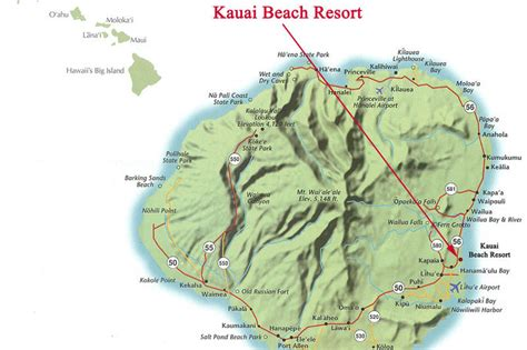 kauai resort map kauai resort condos 1 condo rental aloha condos