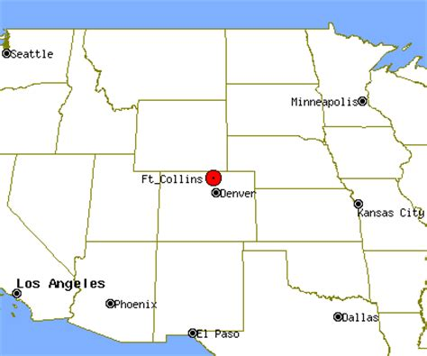 map of fort collins colorado fort collins co city map
