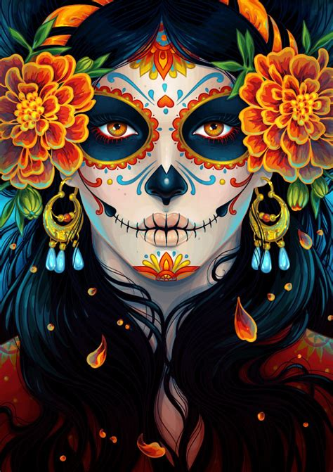 how to create a vibrant day of the dead portrait in adobe