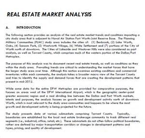 real estate market update template doc 600730 sle market analysis sle market