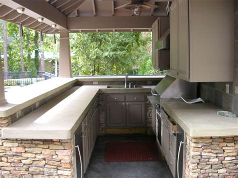 Outdoor Kitchen Countertops Ideas by Outdoor Kitchen Tile Countertop Ideas Images
