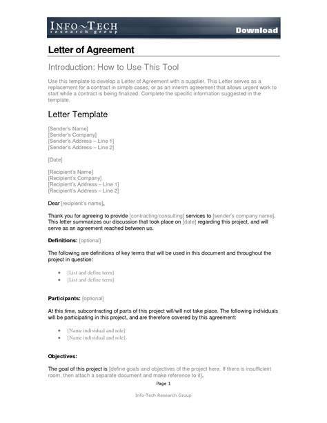 Simple Letter Of Agreement Exles 10 Best Images Of Simple Agreements Letters Template Simple Contract Template Agreement