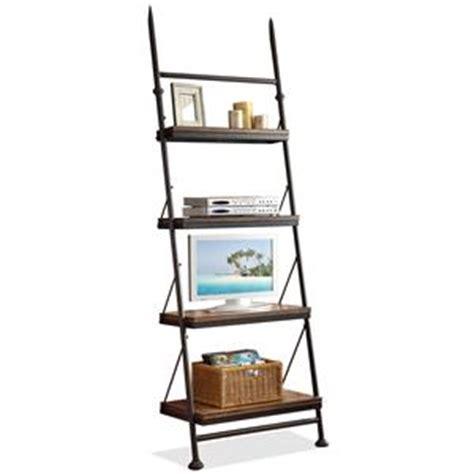 riverside furniture lean living leaning bookcase in smoky driftwood riverside furniture camden town 23730 rectangular writing