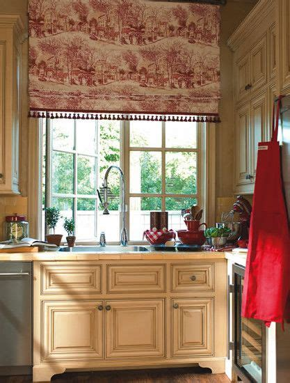 toile kitchen curtains design ideas stuff for sarah red toile curtains yellow gold walls window treatment