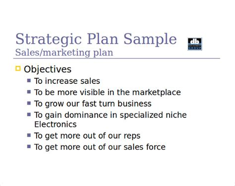 sales manager business plan template 14 sales strategy templates free sle exle