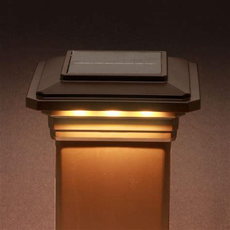 trex post cap lights solar post cap light