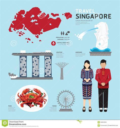 icon design singapore singapore flat icons design travel concept vector stock
