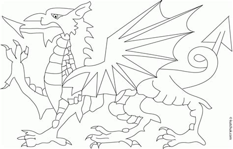 welsh pony coloring pages dragon pictures to colour coloring home