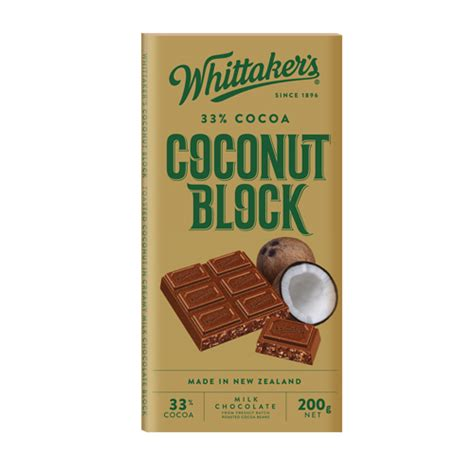 Whittakers Chocolate 200g whittakers coconut block bar 14 200g terra foods
